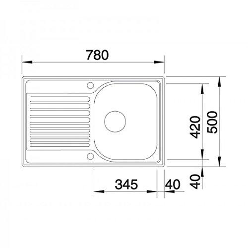 Blanco tipo 45 s compact kuchenspule modern life shop for Blanco küchenspüle