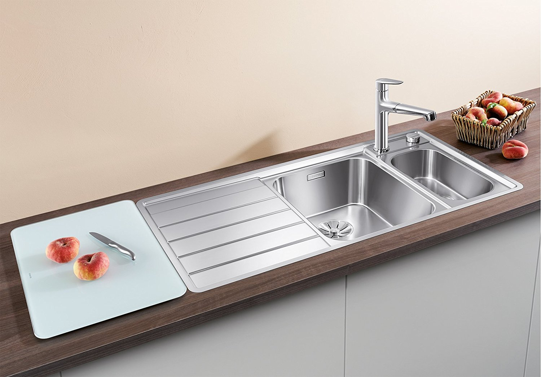 Blanco Edelstahl Seidenglanz AXIS III 6 S-IF, Küchenspüle - modern ...