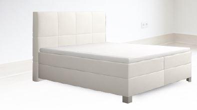 sembella boxspringbett basic mit taschenfederkerndekor 200 x 200 cm modern life shop k chen. Black Bedroom Furniture Sets. Home Design Ideas