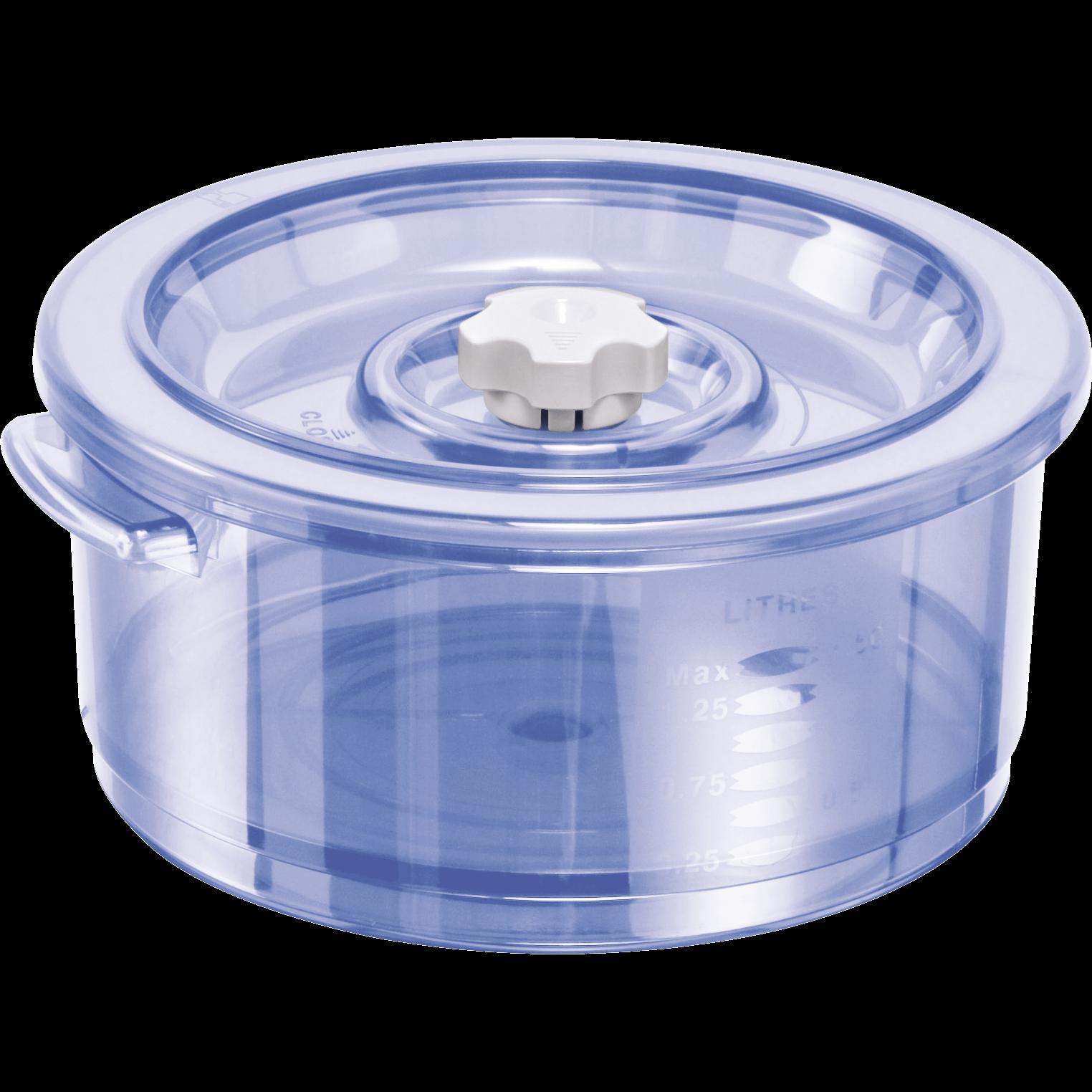 Dampfgarbehälter für die Mikrowelle (rund, 1,5 l