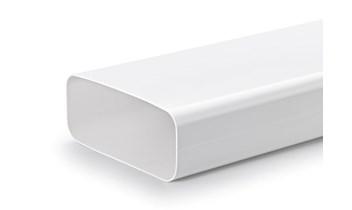 NABER Flow Flachkanal Set 1 Flachkanalrohr Weiß 150er Abluftkanal 4040010