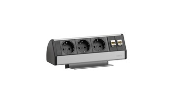 EVOline Dock DATA SMALL 2xSchuko, 2xRJ45 - mit Quick Lock